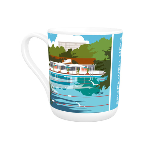 Brockwell Lido, Herne Hill, London Bone China Mug