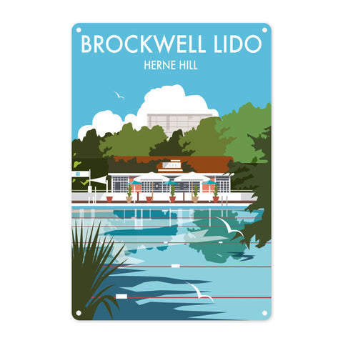 Brockwell Lido, Herne Hill, London Metal Sign