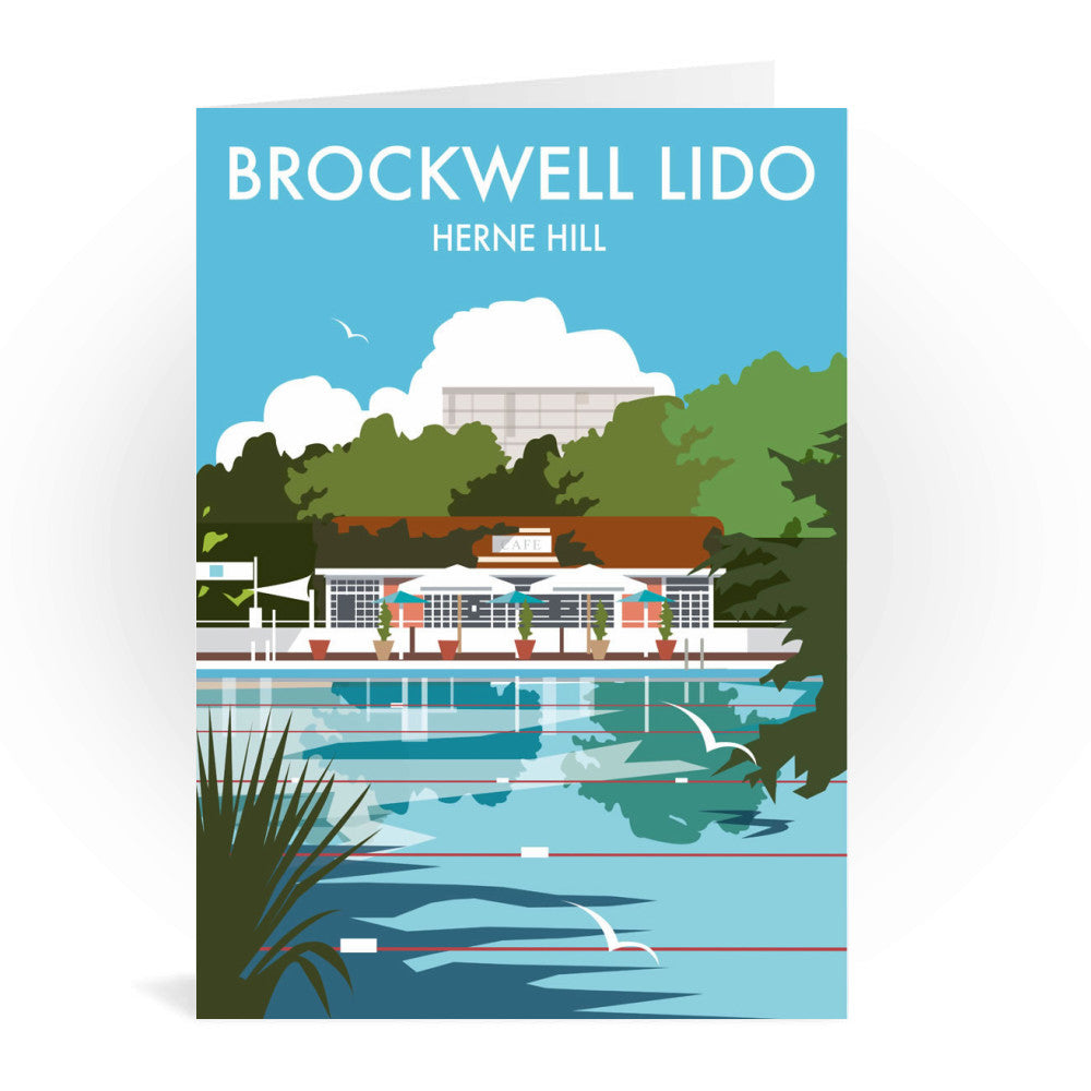 Brockwell Lido, Herne Hill, London Greeting Card 7x5