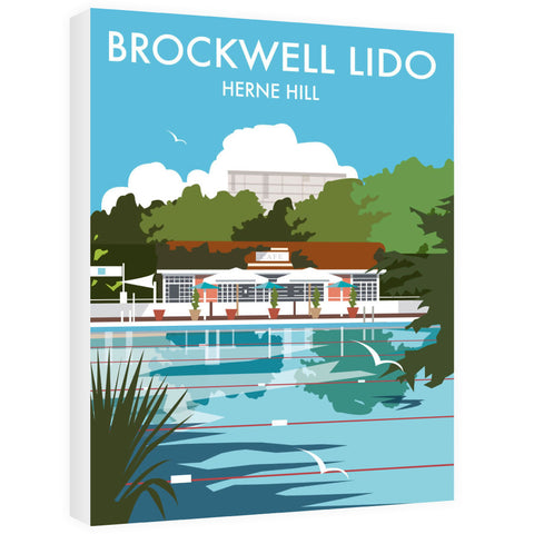 Brockwell Lido, Herne Hill, London Canvas