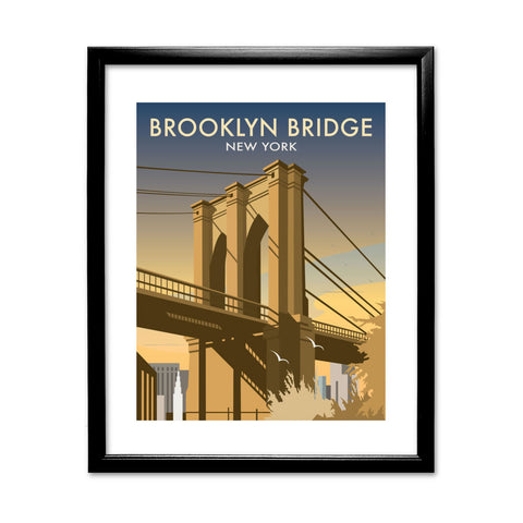 Brooklyn Bridge, New York 11x14 Framed Print (Black)