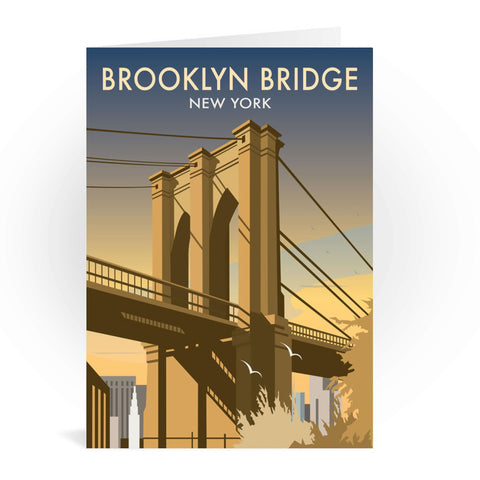 Brooklyn Bridge, New York Greeting Card 7x5