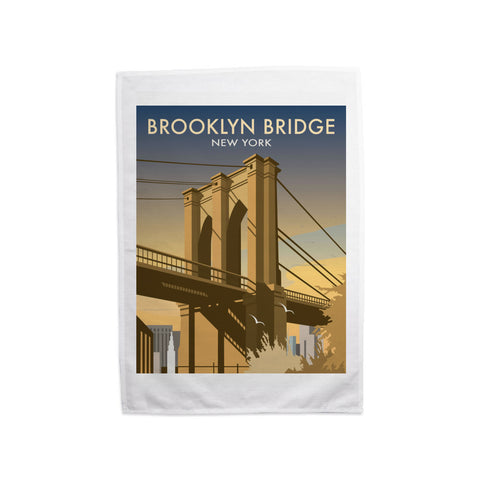 Brooklyn Bridge, New York Tea Towel