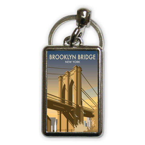 Brooklyn Bridge, New York Metal Keyring