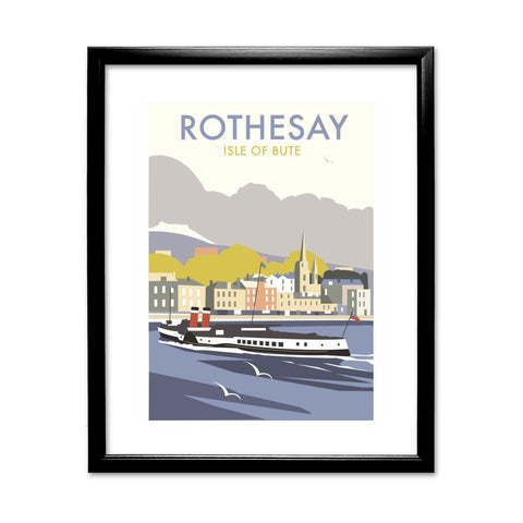 Rothesay, Isle of Bute 11x14 Framed Print (Black)