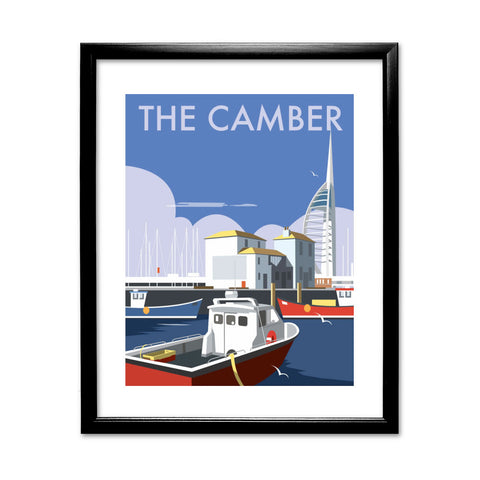 The Camber, Portsmouth 11x14 Framed Print (Black)
