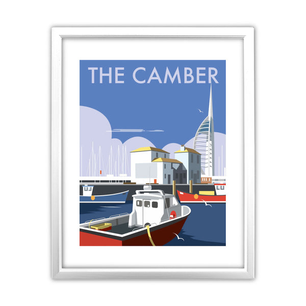 The Camber, Portsmouth 11x14 Framed Print (White)
