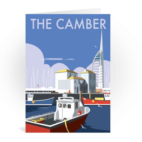 The Camber, Portsmouth Greeting Card 7x5