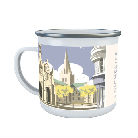 Chichester Cathedral Enamel Mug