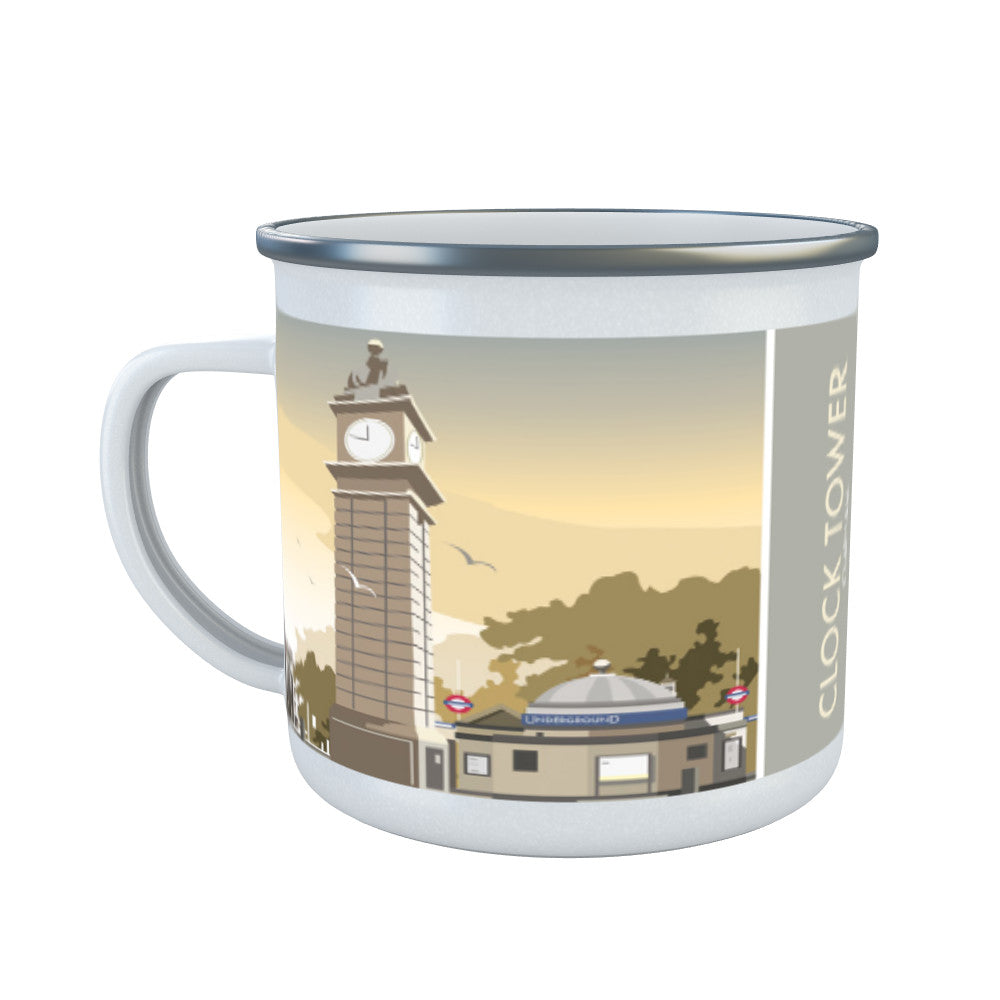 The Clock Tower, Clapham, London Enamel Mug