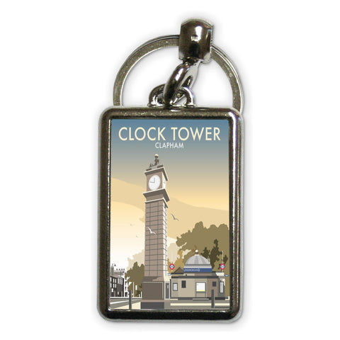 The Clock Tower, Clapham, London Metal Keyring