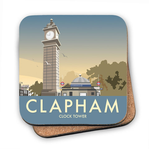 The Clock Tower, Clapham, London MDF Coaster