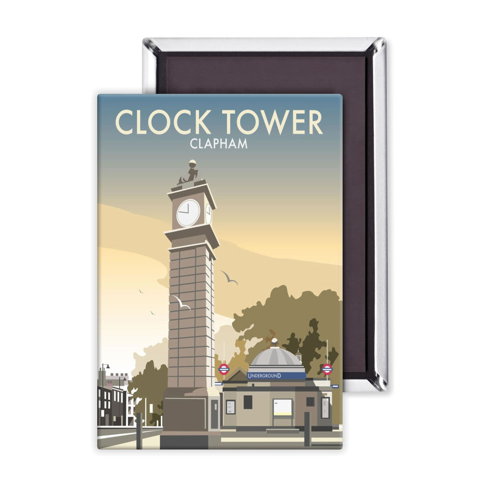 The Clock Tower, Clapham, London Magnet