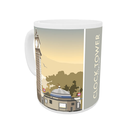 The Clock Tower, Clapham, London Coloured Insert Mug