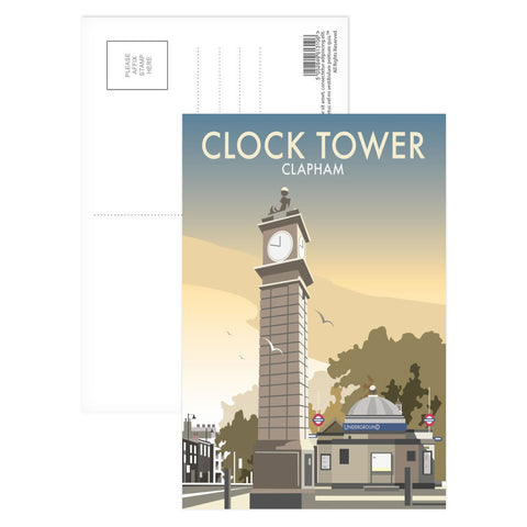 The Clock Tower, Clapham, London Postcard Pack