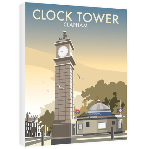 The Clock Tower, Clapham, London Canvas