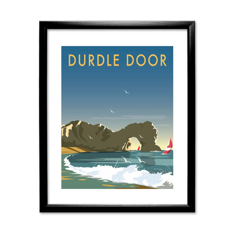 Durdle Door, Dorset 11x14 Framed Print (Black)