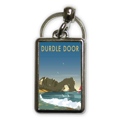 Durdle Door, Dorset Metal Keyring