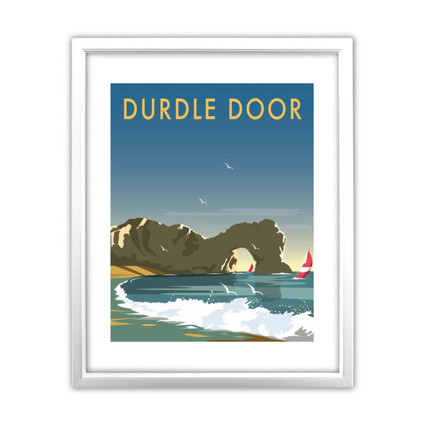 Durdle Door, Dorset 11x14 Framed Print (White)
