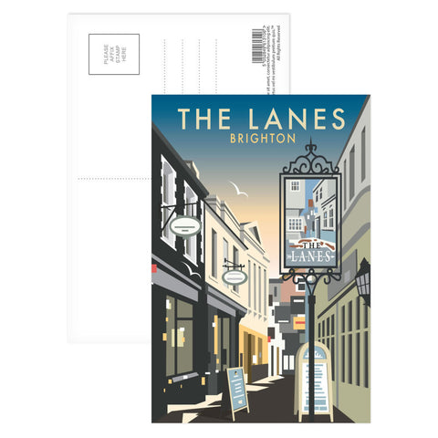 The Lanes, Brighton Postcard Pack