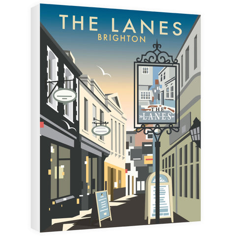 The Lanes, Brighton Canvas