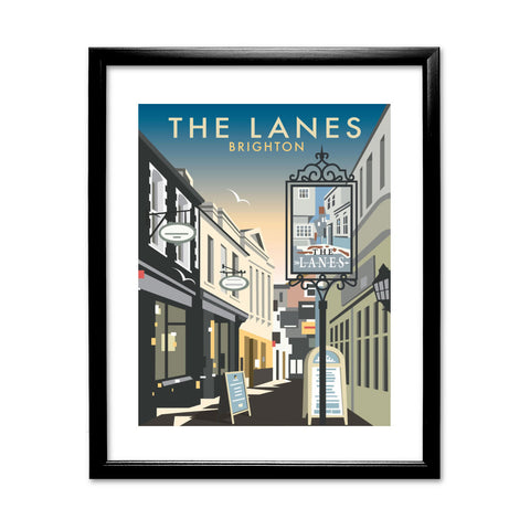 The Lanes, Brighton 11x14 Framed Print (Black)
