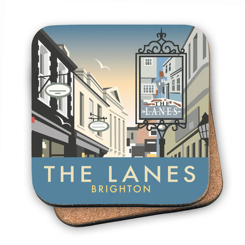 The Lanes, Brighton MDF Coaster