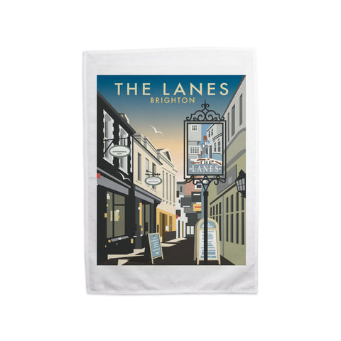 The Lanes, Brighton Tea Towel