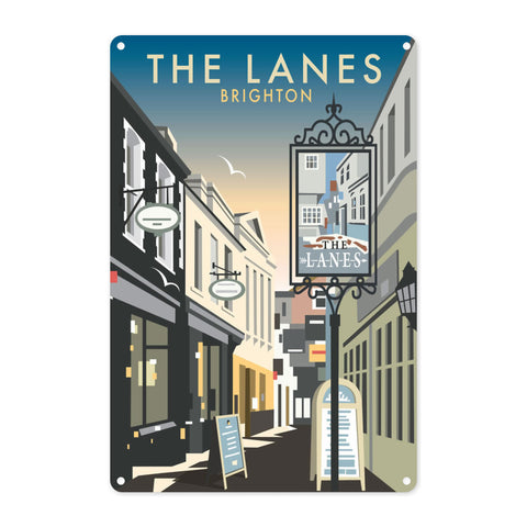The Lanes, Brighton Metal Sign