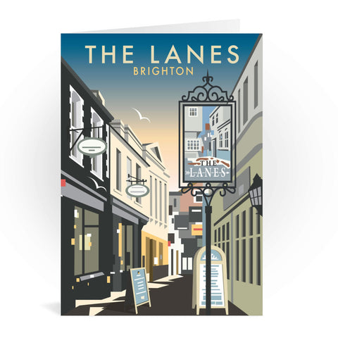 The Lanes, Brighton Greeting Card 7x5