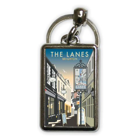 The Lanes, Brighton Metal Keyring