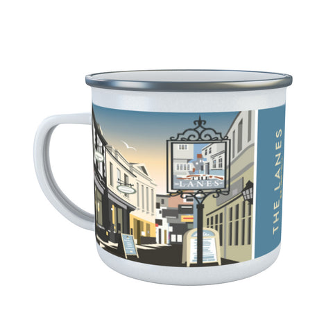 The Lanes, Brighton Enamel Mug