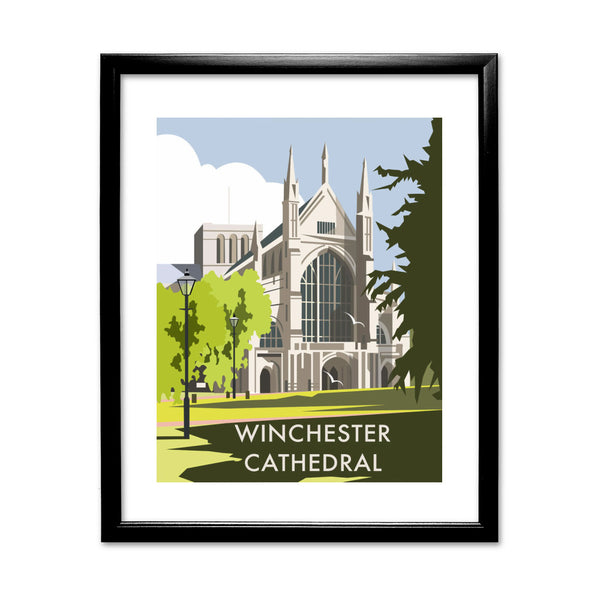 Winchester Cathedral 11x14 Framed Print (Black)