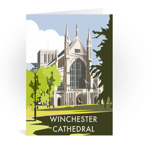 Winchester Cathedral Greeting Card 7x5