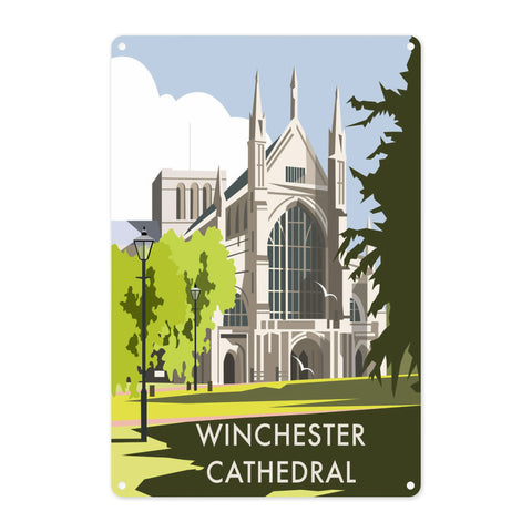 Winchester Cathedral Metal Sign