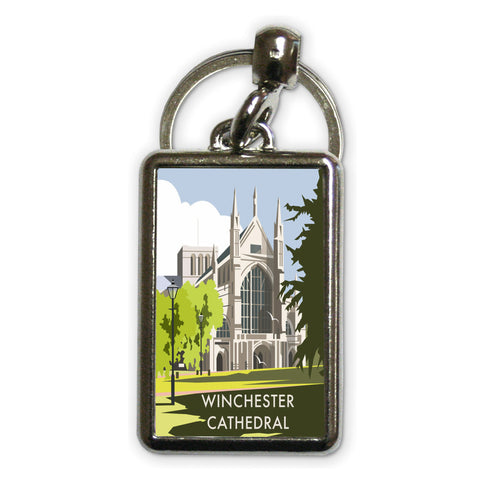 Winchester Cathedral Metal Keyring