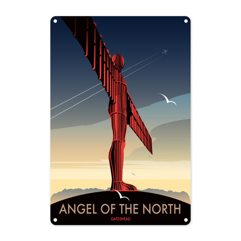 Angel of The North, Gateshead Metal Sign