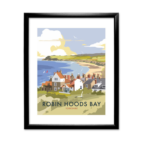 Robin Hoods Bay 11x14 Framed Print (Black)