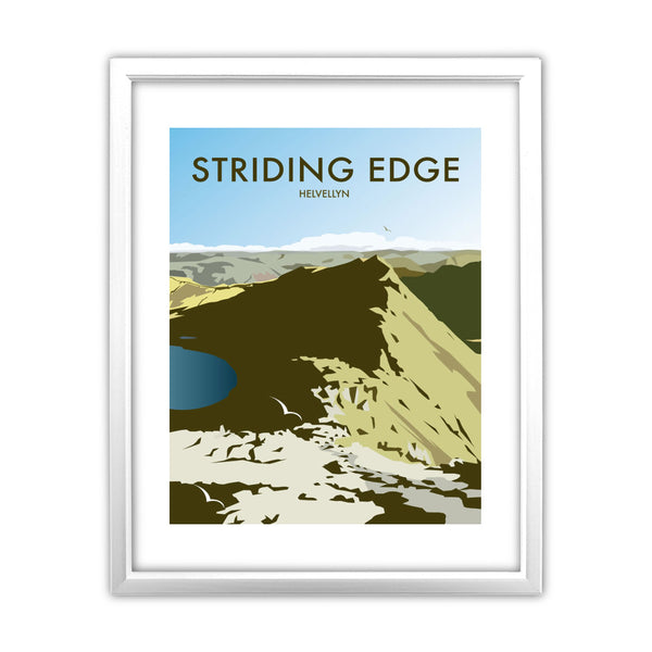 Striding Edge, Helvellyn 11x14 Framed Print (White)