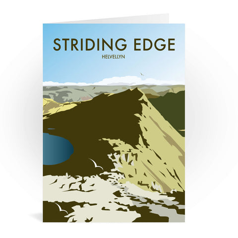 Striding Edge, Helvellyn Greeting Card 7x5
