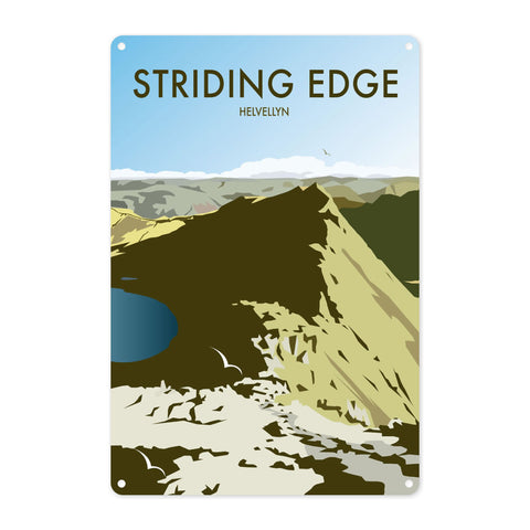 Striding Edge, Helvellyn Metal Sign