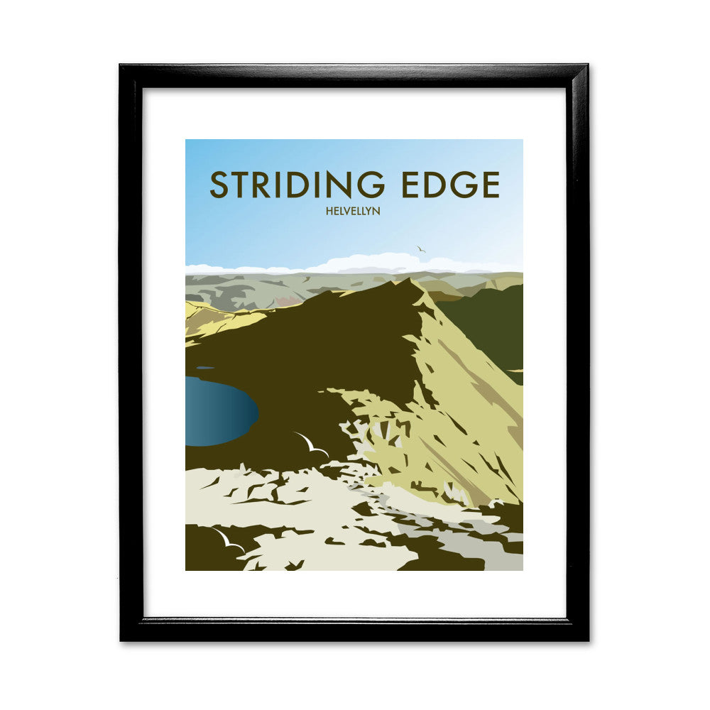Striding Edge, Helvellyn 11x14 Framed Print (Black)