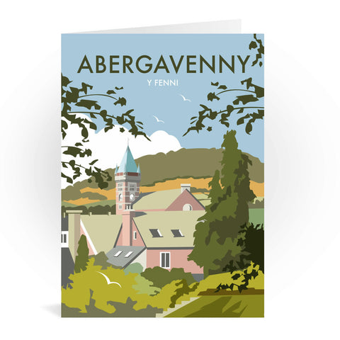 Abergavenny, South Wales Greeting Card 7x5