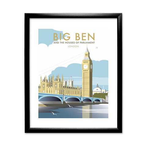 Big Ben and the Houses of Parliament 11x14 Framed Print (Black)