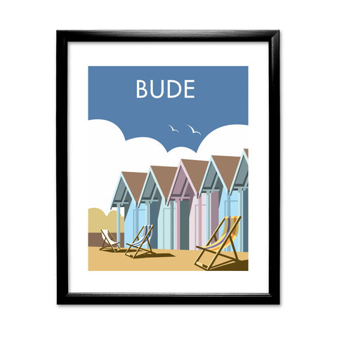 Bude, Cornwall 11x14 Framed Print (Black)