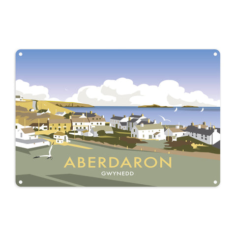 Aberdaron, South Wales Metal Sign