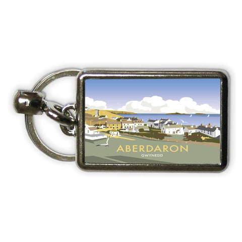 Aberdaron, South Wales Metal Keyring