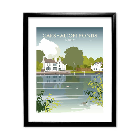 Carshalton Ponds, Surrey 11x14 Framed Print (Black)