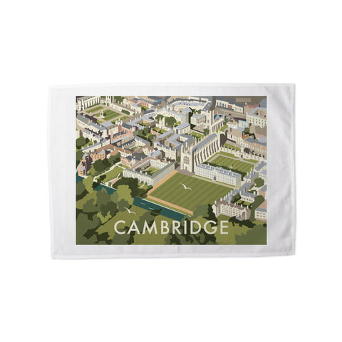 An Aerial View of Cambridge, Cambridgeshire Tea Towel