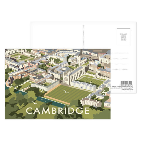 An Aerial View of Cambridge, Cambridgeshire Postcard Pack